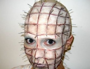 Pinhead Haloween Makeup