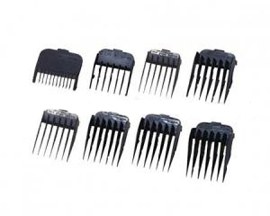Wahl Attachment comb set # 1-8 black Набор насадок черные с кассетой для хранения 4503-7161