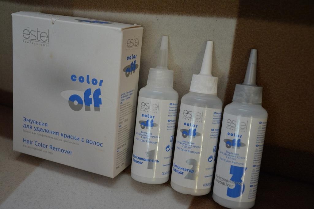 Кислотная смывка краски с волос