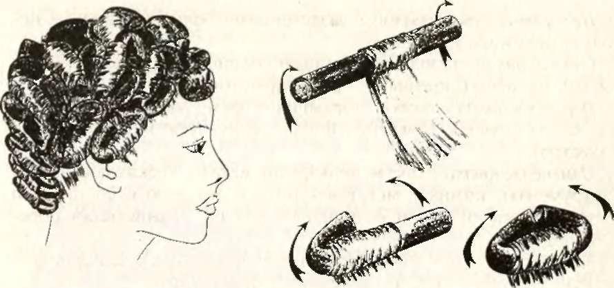 Химическая завивка волос на бумеранги