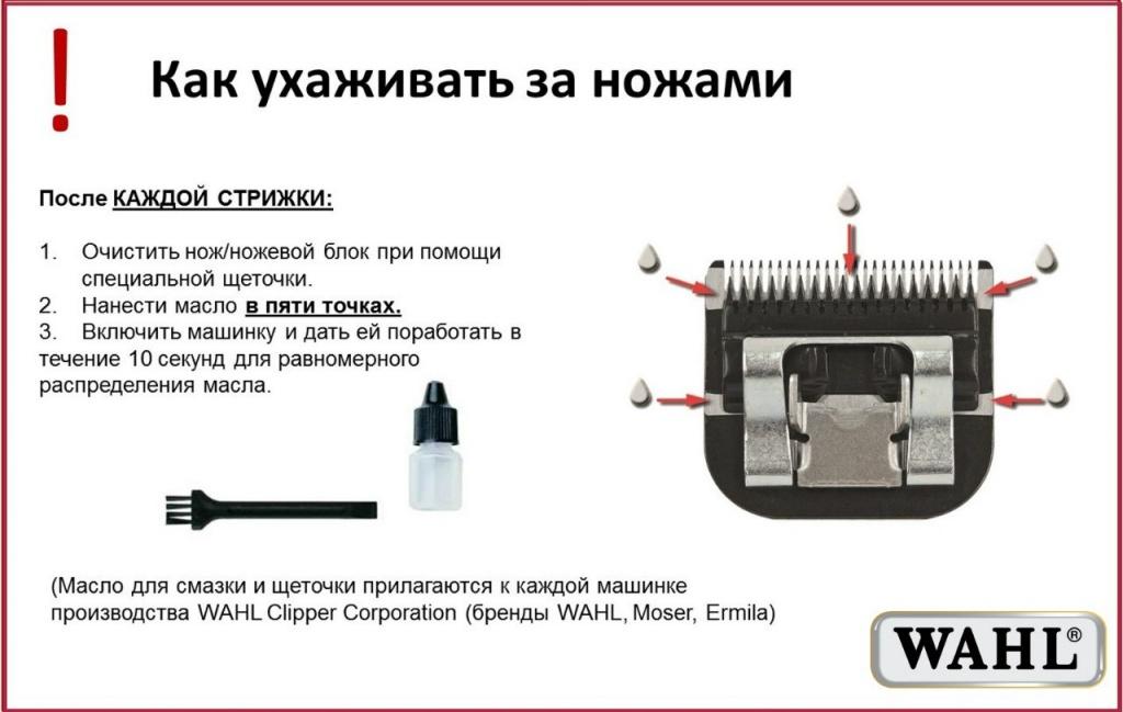 Как ухаживать за ножевым блоком Moser Chromstyle Pro?